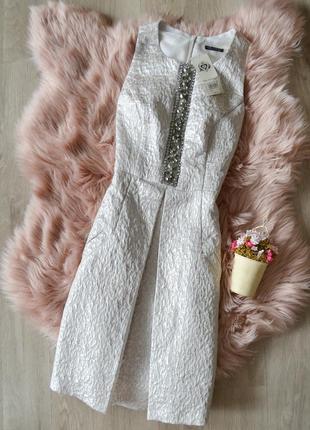 Акция! 1+1=3  новое блестящее платье со встречной складкой miss selfridge