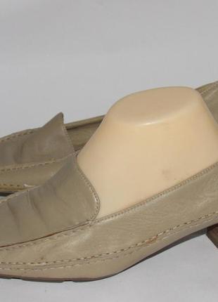 Ara flex кожаные женские туфли-мокасины 6р ст.25,5см с9