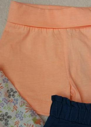 Комплект набор блузка футболка и шорты на 6-9 мес и дольше3 фото