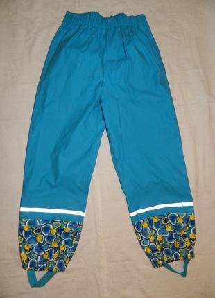 Демисезонные брюки-дождевик sweety - р. 122-128