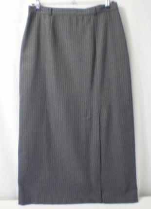 Шикарная тонкая теплая юбка в пол в мелкую клетку
