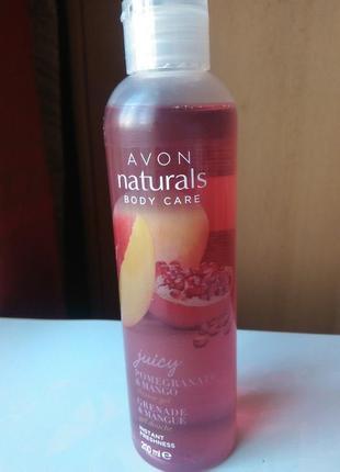 Гель для душа сочный гранат и манго naturals, 200 мл.