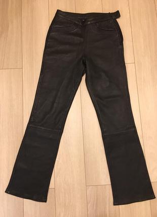 Кожаные прямые брюки