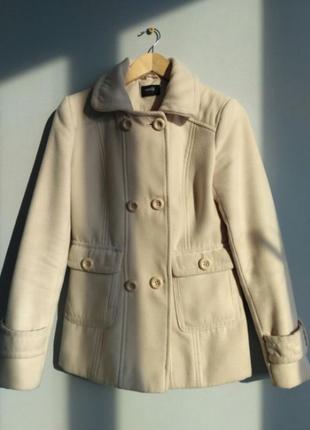 Восхитительное  бежевое брендовое пальто по смешной цене!!можно обмен