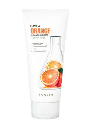 Очищающая пенка c апельсином it's skin have a orange cleansing foam корея оригинал 150 мл