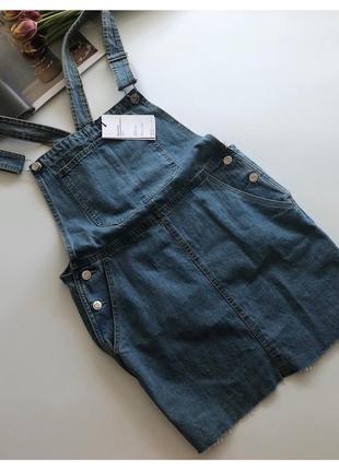 Новый джинсовый комбинезон юбка bershka pp м-л