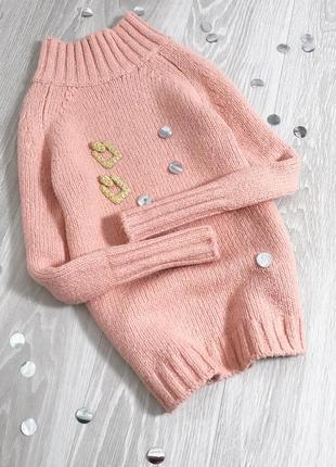 Персиковый тёплый свитер mint velvet