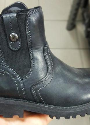Ботинки кожаные geox демисезонные p. 28 для девочки