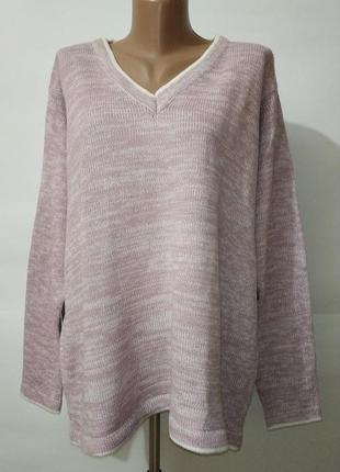 Сиреневый мягкий новый свитер с v-образным вырезом uk 16/44/\.xl