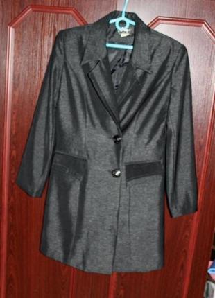 Длинный пиджак антрацитового цвета