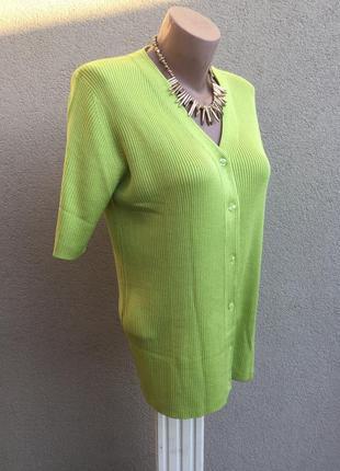Винтаж,трикотаж в рубчик блуза,кофточка на застежке,кардиган,большой размер,шелк100%2 фото