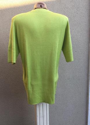 Винтаж,трикотаж в рубчик блуза,кофточка на застежке,кардиган,большой размер,шелк100%3 фото
