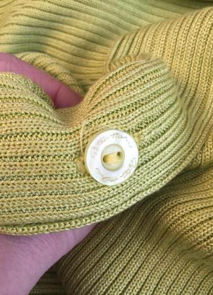 Винтаж,трикотаж в рубчик блуза,кофточка на застежке,кардиган,большой размер,шелк100%6 фото