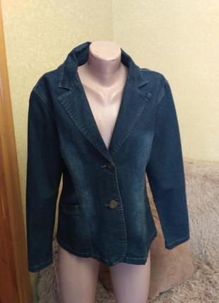 Практичный джинсовый пиджак, куртка4 фото
