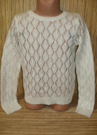 Ажурный свитерок на 7-8 лет