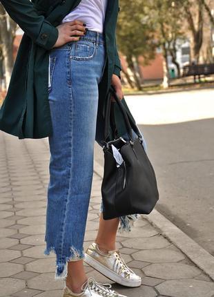 Джинсовые кюлоты, джинсы stradivarius