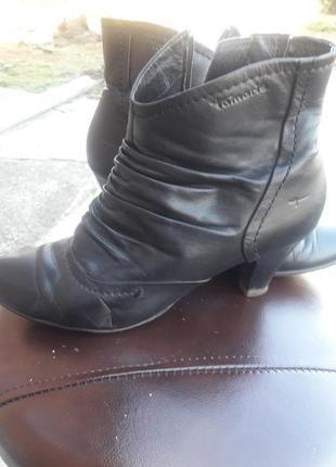 Ботинки кожа tamaris