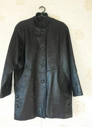Итальянская кожаная куртка trend .чёрная