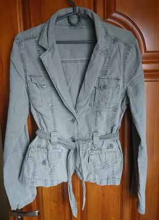 Стильный  льняной пиджак(код в105)