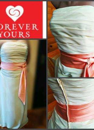 Шикарное шифоновое платье forever yours, оригинал, р.l, новое с биркой