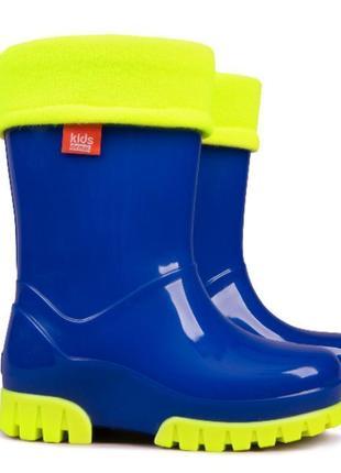 Резиновые сапоги demar синие twister lux fluo
