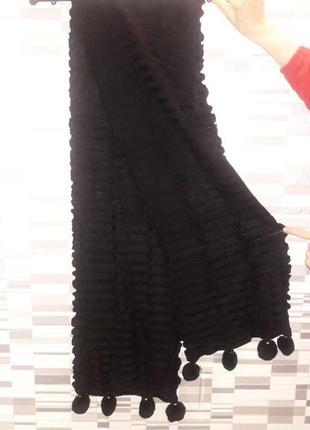 Продам шикарный ажурный длинный шарф палантин. фабричная вязка