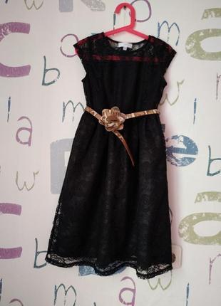 Платье charles voegele новое кружевное девочка 9-10 лет(140см) сток