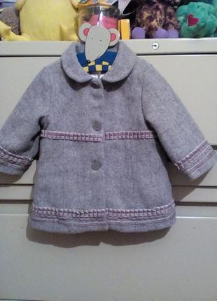 Пальто винтаж 6-12 месяцев