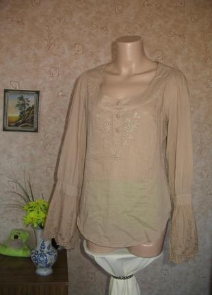 Красивая х/б блузка размер 36