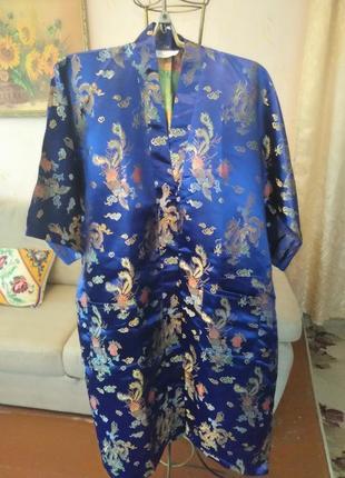 Роскошный атласный халат - кимоно