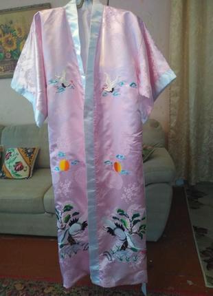 Роскошный натуральный халат - кимоно