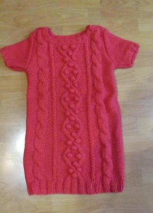 Платье теплое вязаное на 9-10 лет next