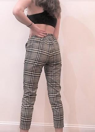 Стильні  брюки-сигарети на талію boohoo,р.s