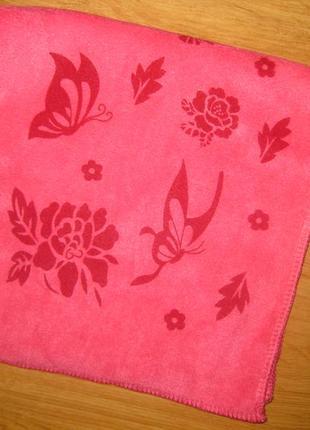 Полотенца для рук микрофибра роза