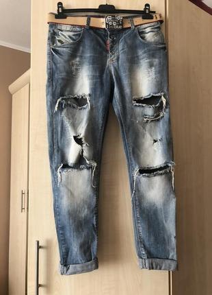 Женские рваные джинсы 2019 - купить недорого вещи в интернет ... 1c11565d8d6eb