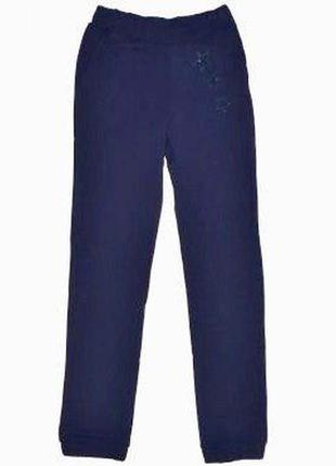 1. синие спортивные штаны для девочки2 фото