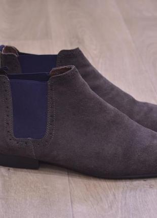 Мужские туфли челси натуральная замша весна river island