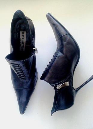 38-39р. кожаные туфли-ботильоны loretta pettinary