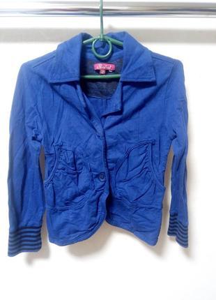 Трикотажный пиджак на девочку 140-146 см