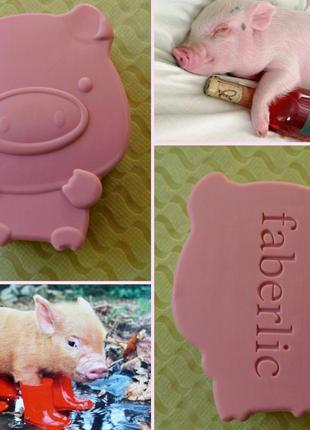 """Фигурное мыло """"свинка"""" от faberlic."""