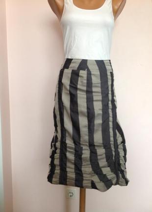 Спортивная прямая юбка с драпировкой. /xl- xxl/