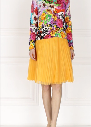 Брендовая юбка-плиссировка moschino оригинал