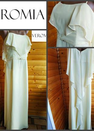 Роскошное поли-шифоновое платье veromia, оригинал, р.  l