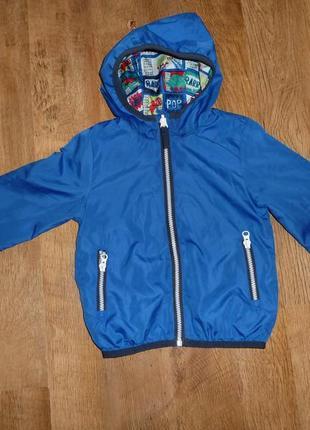 Marks&spencer яркая двухсторонняя куртка, ветровка на 2-3 года