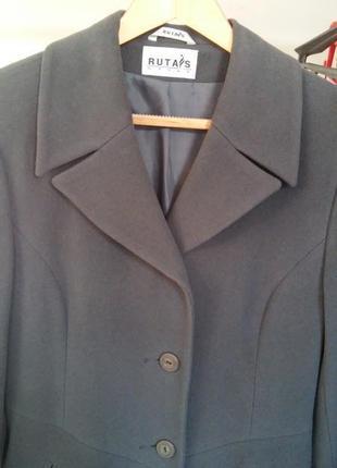 Пальто серое длинное весна-осень rutas 44 укр s-m