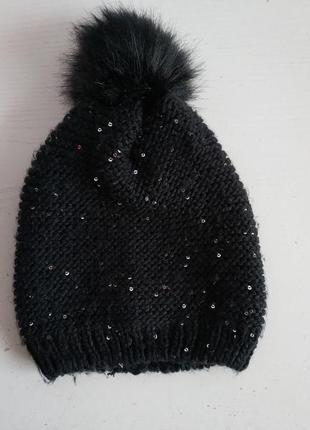 Распродажа!!! вязаная   шапка  на подростка, женщину  gina benotti