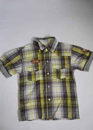 Rebel 3-4 года,стильная рубашечка на лето,состояние новой