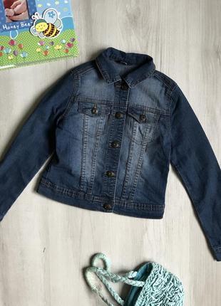 Джинсовый пиджак, куртка на 7-8 лет, george