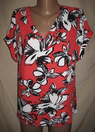 Вискозная блуза папайа р-р12