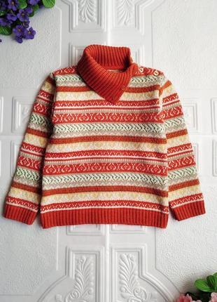 """Шерстяной жаккардовый свитер """"дайс""""2"""